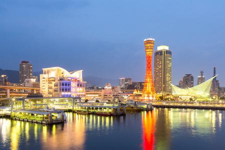 Skyline and Port of Kobe Tower Kansai, Japan Reklamní fotografie - 37430829