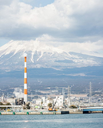 alpine zone: Mountain Fuji and Japan industry Factory from Shizuoka prefecture