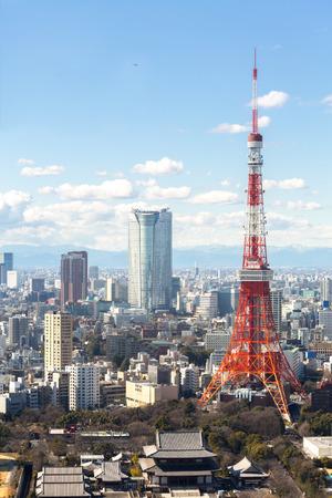 Luftaufnahme Stadtbild Tokyo Tower Japan Standard-Bild - 40097805