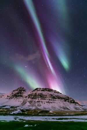 The Heart Northern Light Aurora borealis at Kirkjufell Iceland
