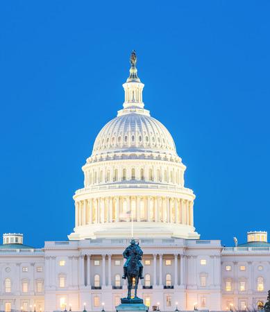 us capitol: US Capitol Building at dusk Washington DC USA