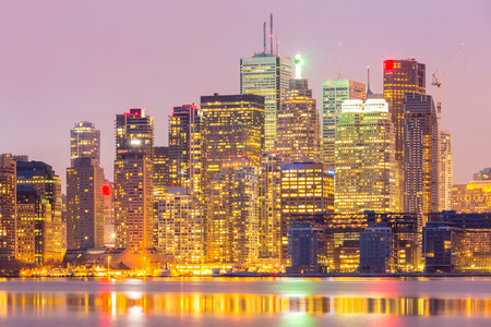 greater: Toronto Skyline at dusk Ontario Canada Stock Photo