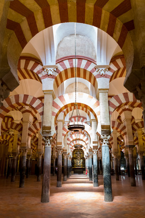 arabic architecture: Interior of The Cathedral and former Great Mosque of Cordoba  La Mezquita