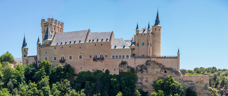 segovia: The Alcazar of Segovia is a stone fortification, located in the old city of Segovia, Spain.