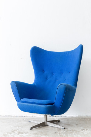 comfortable chair: modern Blue Chair contemporary style in vintage room Stock Photo