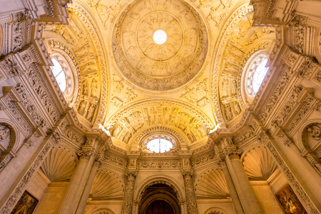 moresque: Interior facade of The Cathedral of Saint Mary of the See