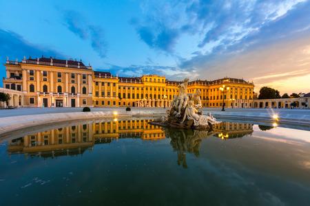Schonbrunn Palace Vienna Austria at dusk