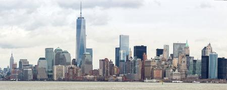 lower manhattan: Panorama of New York City at Lower Manhattan