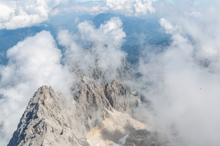 top mountain: Landscape of Alpine Alps mountain view from Zugspitze top of Germany