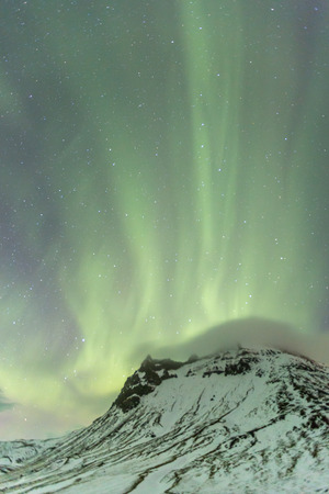 northern light: The Northern Light Aurora borealis at Vik Iceland