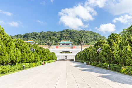 Gugong National Palace Museum in Taipei, Taiwan 写真素材