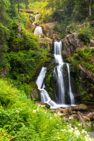 black forest: Triberg Falls is one of the highest waterfalls in black forest, Germany Stock Photo