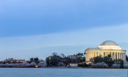 thomas: Thomas Jefferson Memorial building at dusk Washington, DC Editorial