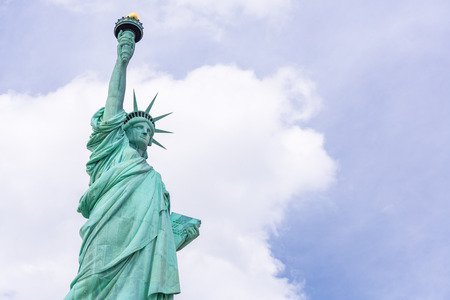 liberty torch: The Statue of Liberty in New York City, USA