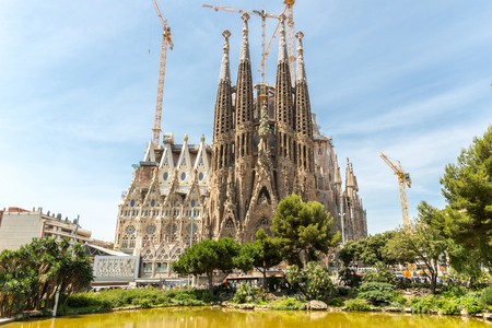 sagrada: Sagrada Familia Church in Barcelona Spain