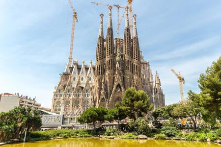 familia: Sagrada Familia Church in Barcelona Spain