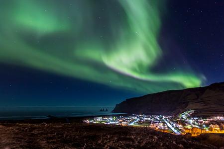 Northern Light Aurora borealis at Vik Iceland