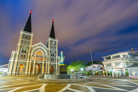 immaculate conception: The cathedral of the immaculate conception, Chanthaburi, Thailand Stock Photo
