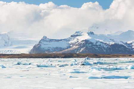 lagoon: Vatnajokull Glacier Jokulsarlon lagoon Iceland