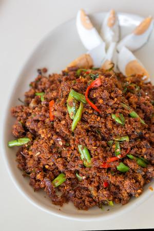 crispy: Crispy fried fish - Thai style serve with salted egg