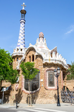 guell: Parc Guell designed by Antoni Gaudi Barcelona, Spain.