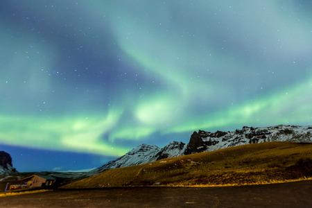 northern nature: Northern Light Aurora borealis at Vik Iceland