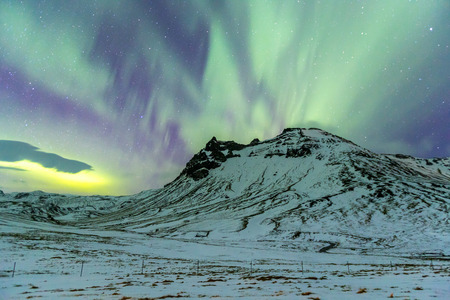 northern light: Northern Light Aurora borealis at Vik Iceland