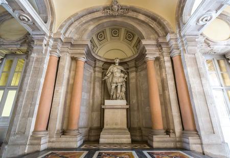 madrid  spain: Royal Palace corridor, Madrid, Spain