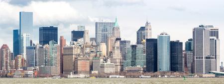 liberty island: Panorama of New York City at Lower Manhattan
