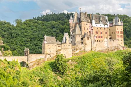 castle: View of the Burg Eltz Castle Editorial
