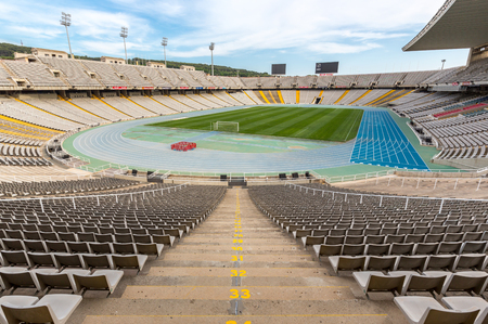 olympic sports: Olympic stadium in Barcelona, Spain Editorial
