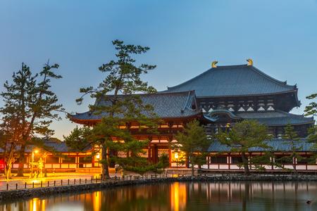 todaiji: Nara, Japan at Todaiji Temple at dusk.