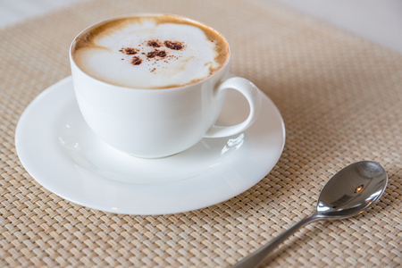 cappuccino cup: Coffee cappuccino in white cup