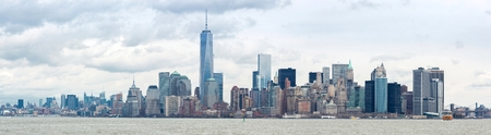 Panorama of New York City at Lower Manhattan