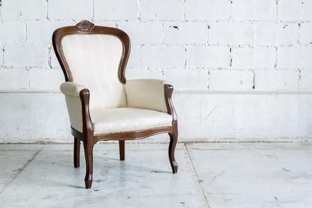 ladrillo: Blanco vintage Silla estilo farbirc cl�sica