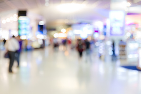 Abstrast Blurred background : airport boarding area