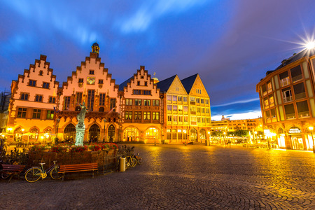 old city: Frankfurt old town sunset. Germany