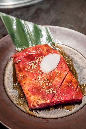 frescura: Frescura japonesa kalbi wagyu carne a la barbacoa yakiniku