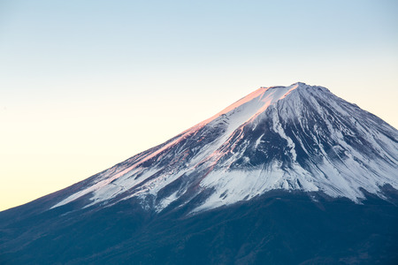 winter sunrise: Mountain Fuji in winter sunrise Stock Photo