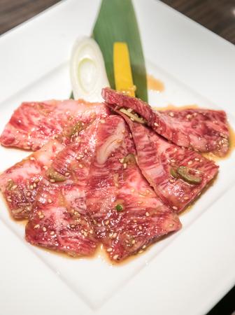 white backing: wagyu beef rib Japanese  meat BBQ yakiniku