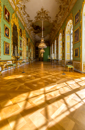 chappel: MUNICH, GERMANY - JULY 31: Interior of the Corridor in the Munich Residence on July 31, 2015 in Munich, Germany. The Residence is the former royal palace of the Bavarian monarchs Editorial