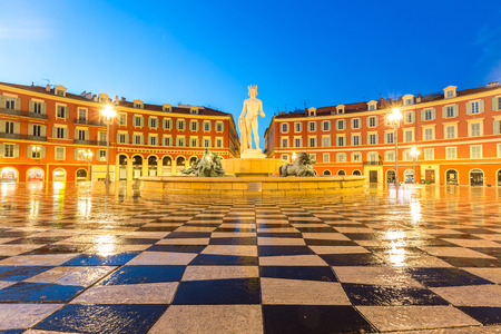 cote: The Fountain du Soleil on Place Massena square Nice, French Riviera, Cote dAzur, France