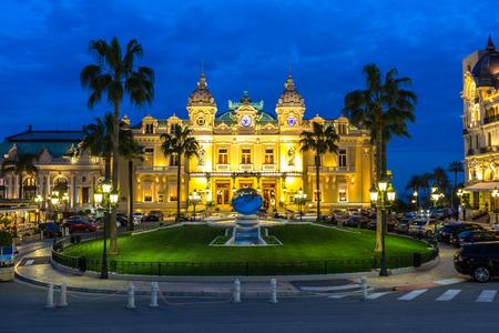 carlo: The Monte Carlo Casino, gambling and entertainment complex in Monte Carlo, Monaco, Cote de Azul, Europe. Editorial