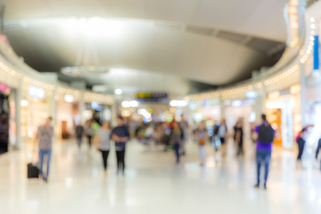 centro comercial: Abstrast fondo borroso: zona de embarque del aeropuerto