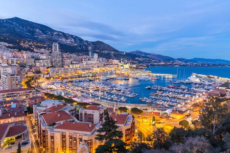 Monaco Monte Carlo abritent Côte d'Azur Banque d'images - 55360148