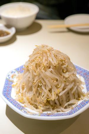 korean salad: Korean Salad bean sprouts kimchi cuisine