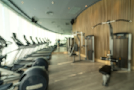 recreation room: Abstract blurred background: fitness gym club
