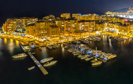 carlo: Fontvieille Monaco Harbor Monte carlo at night