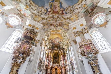 pilgrimage: Interior of Pilgrimage Church of Wies near  Fussen Bavaria, Germany