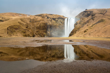 skogafoss waterfall: skogafoss waterfall on the South of Iceland
